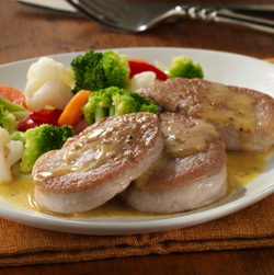 Pork and Veggies with Honey-Mustard Sauce